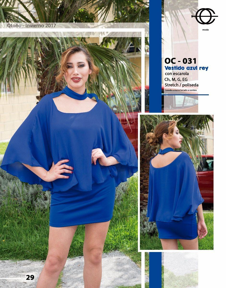 Vestidos azul rey moda