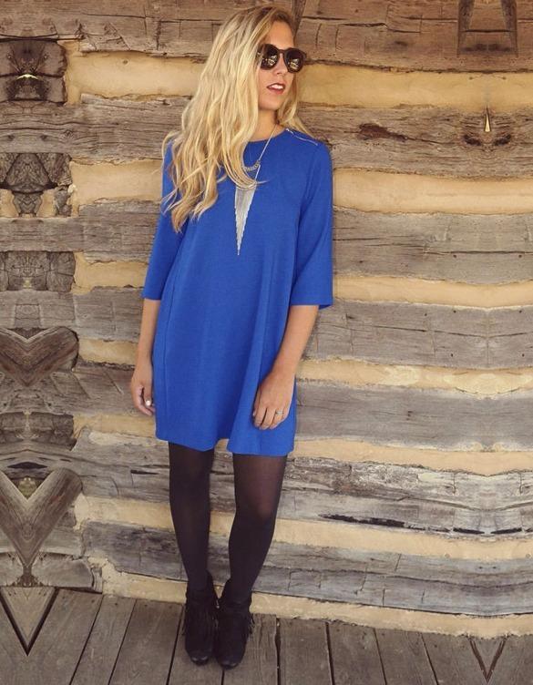 Vestido Azul Rey Corto Bohoo Talla Extra De Moda Casual