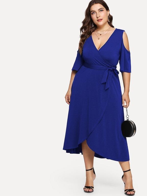ac85559f9 Vestido Azul Rey Largo
