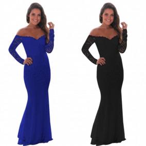 b13c3a715 Vestido Dama Honor Azul Rey - Largo de Mujer en Mercado Libre México