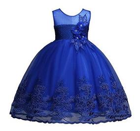 Vestido Azul Rey Para Niña Fiesta Graduacion Cumpleaños Fkkf