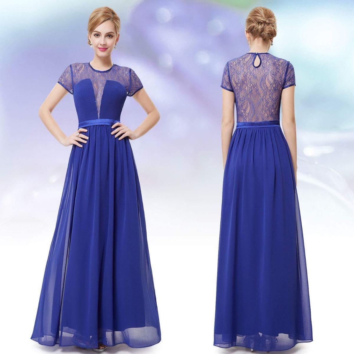 Vestido azul royal g