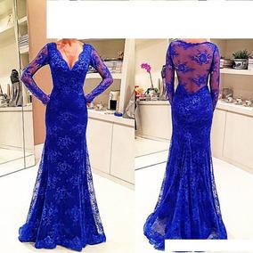3f6055782 Vestido Madrinha Azul Royal Tamanho Xxg - Vestidos Longos XXG ...