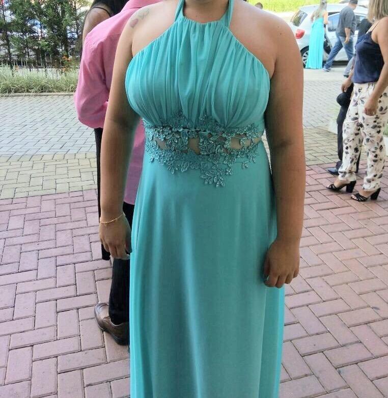 Vestido azul tiffany comprar curitiba