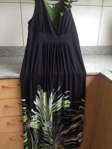 vestido azulino de gaza talla m y de marca con strass
