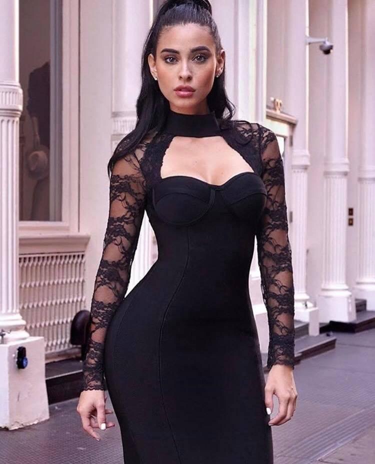 Vestidos bandage negro