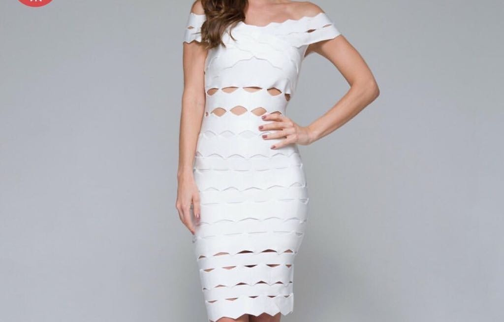 182ab1b97 Vestido Bandagem Midi Branco (lereve Original) - Novo - R$ 399,00 em ...