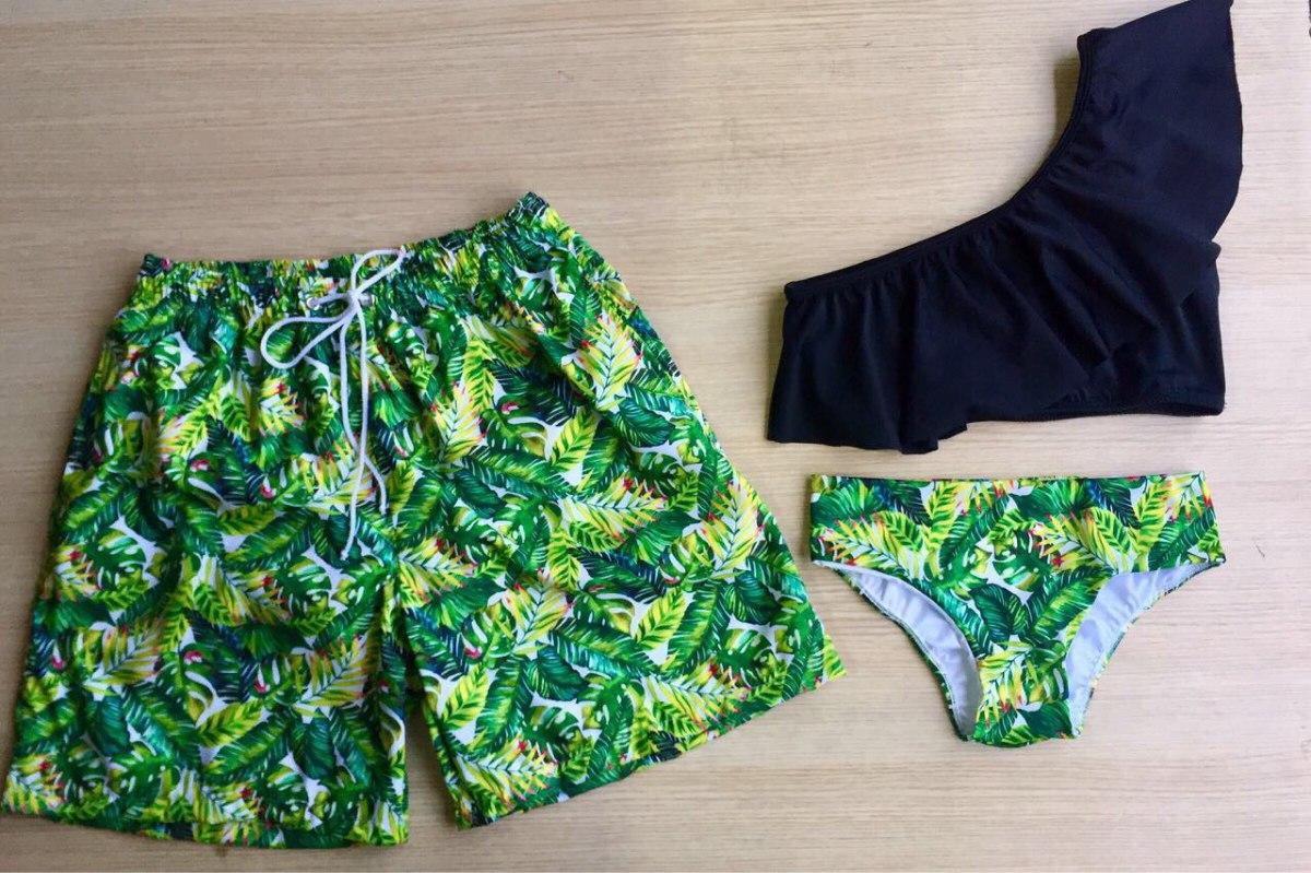 0e77bed0bace0 Pantaloneta Y Vestido De Baño Para Pareja   Mujer   Hombre ...