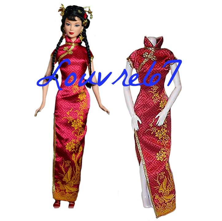 9d8f6ede01c6d Vestido Barbie Chinese New Year Coleccion Munecas Del Mundo ...