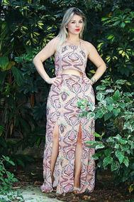 2c566616a Vestido Longo Morena Rosa - Vestidos Longos Femininas no Mercado Livre  Brasil