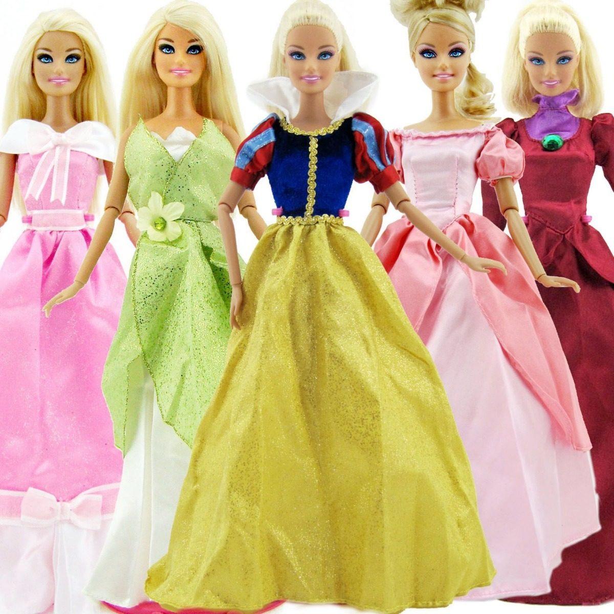 7918094454 vestido barbie roupa boneca princesa disney com coroa sapato. Carregando  zoom.