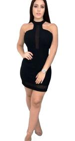 5c2658516009 Vestido Preto Curto Colado Gola Alta - Vestidos com o Melhores ...