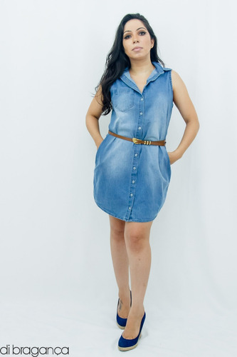 vestido básico sem manga  di bragança