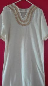 54ef0779c4 Vestido Blanco Tela Hindu - Vestidos de Mujer en Mercado Libre Venezuela