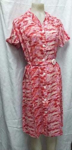 vestido baton de fibrana talle especial
