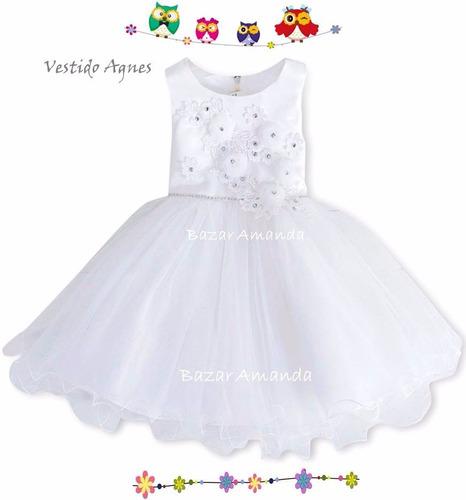 vestido bautizo 12/18 meses - bazar amanda