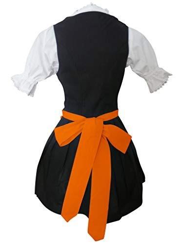 Naranja Vestido Disfraz Bavaro Empleada Domestica Halloween XZiuOkPT
