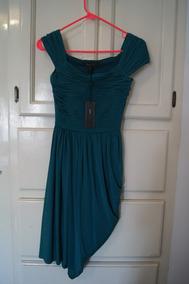 Vestido Bcbg Color Verde Jade Talla Extra Chico Nuevo