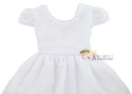 vestido bebê batizado delicada beleza - fibonacci -promoção