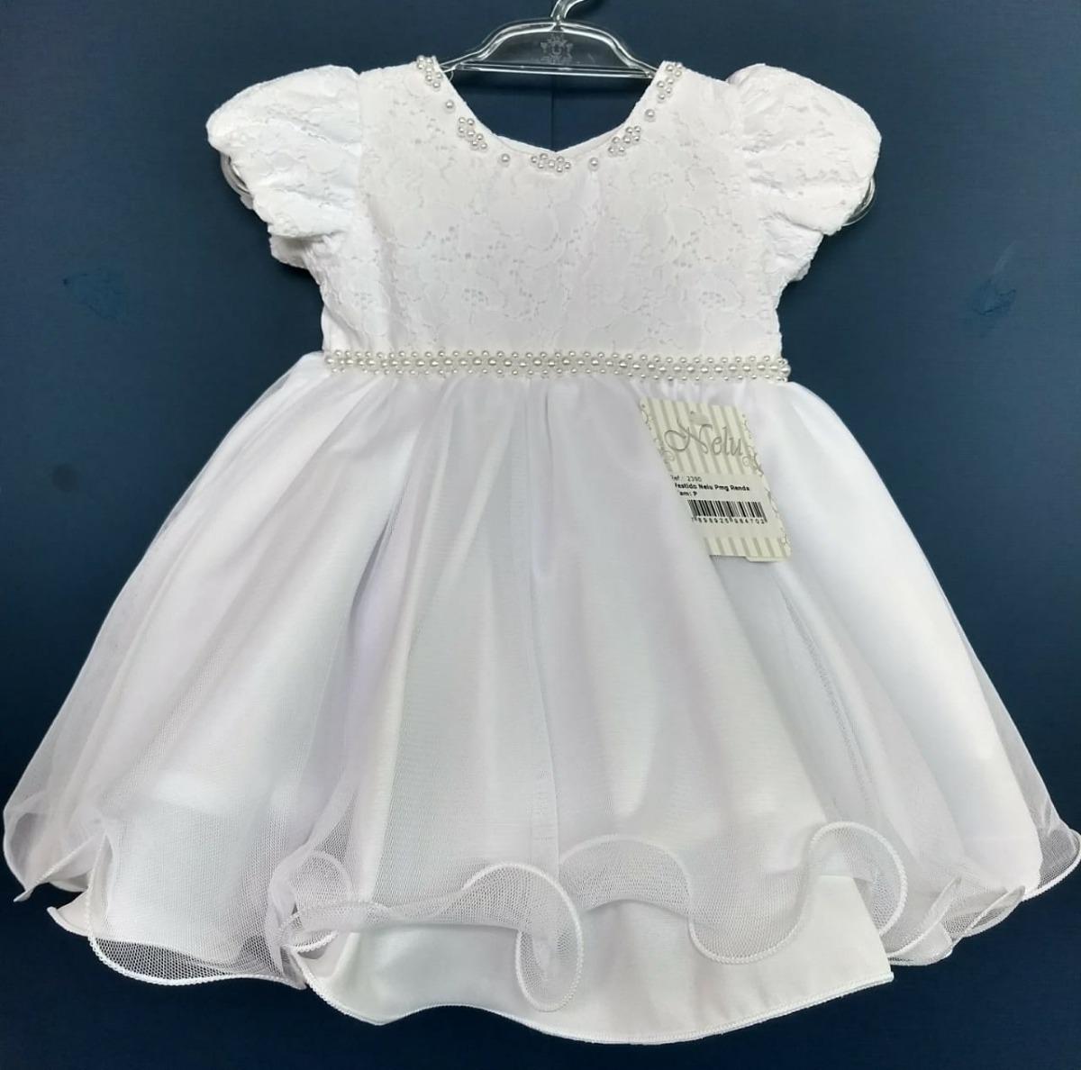 9e48feff3b vestido bebê batizado  festa  renda branca c  tiara-promoção. Carregando  zoom.
