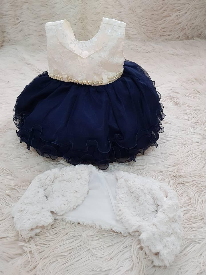 043cac4ff Vestido Bebê +bolero Princesa Festa Luxo Pronta Entrega - R  189