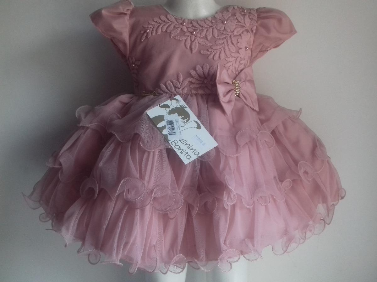 Vestido Bebê Luxo Festa Diversos Modelos Menina Bonita Natal - R ... cc8975bd4fa7
