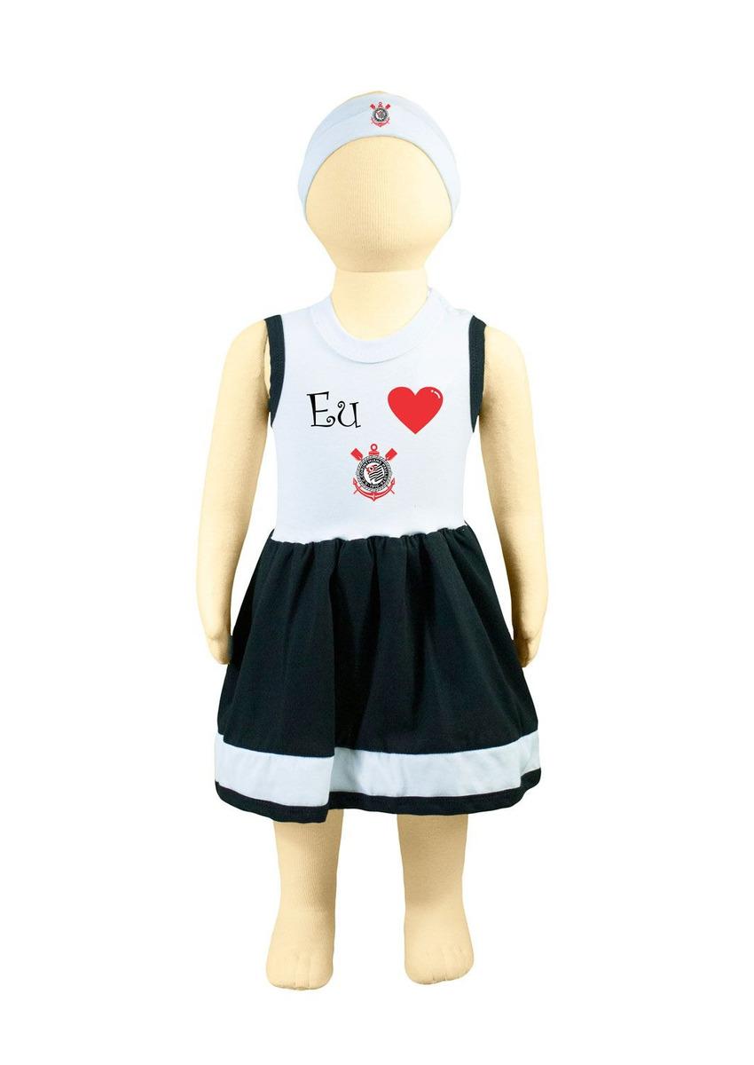 0c733f751b23 Vestido Bebê Time Futebol Corinthians - R$ 39,90 em Mercado Livre