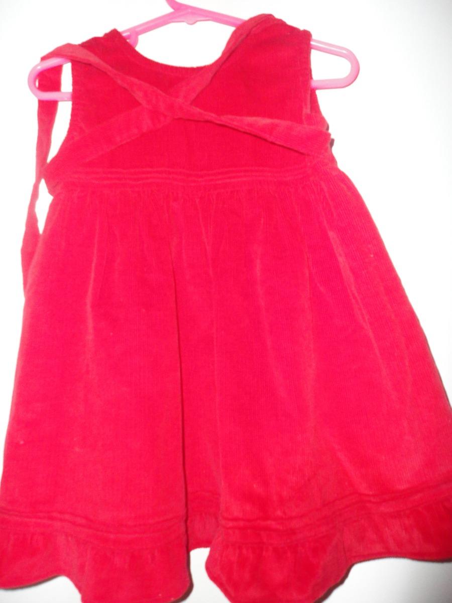 9f28f4173 vestido bebe 0-3 meses rojo de corderoy impecable. Cargando zoom.