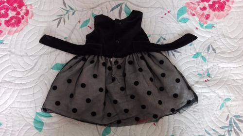 vestido bebe carters negro