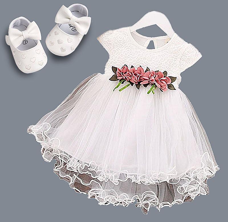 9f1356db0 vestido bebe infantil batizado + sapatinho luxo festa casame. Carregando  zoom.