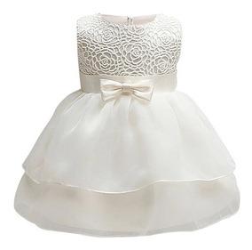 Vestido Bebe Nina Bautizo Talla 6 Meses 1 Ano 2 Anos Ivory