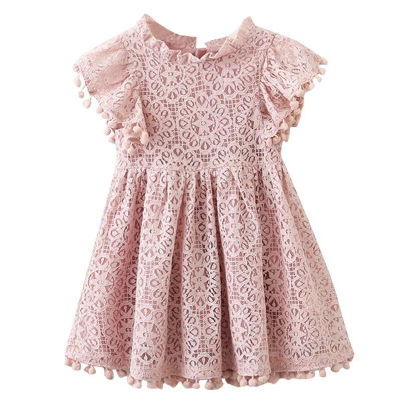 0be01e0f9be1 Vestido Bebe Niña Fiesta, Rosa Corto Encaje Princesa