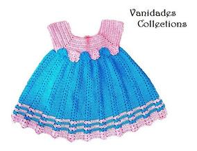 Vestido Bebe Niña Tejido Ropa Para Bebes Talla 9 12 Meses