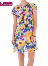 bb833dd20f Vestido Amarelo De Musseline Com Vestidos Feminino - Vestidos Curtos ...