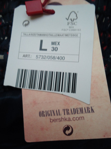 vestido bershka original garments t 30 mex