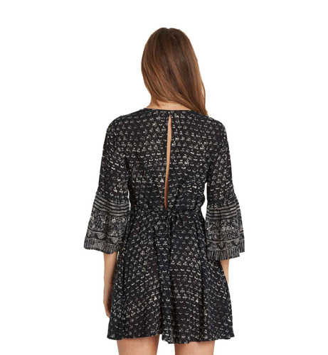 vestido billabong divine black mujer - jd26mdiv