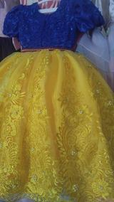 Vestido Blanca Nieves Alta Costura Niña Fiesta
