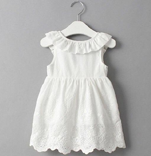 Vestido blanco algodon