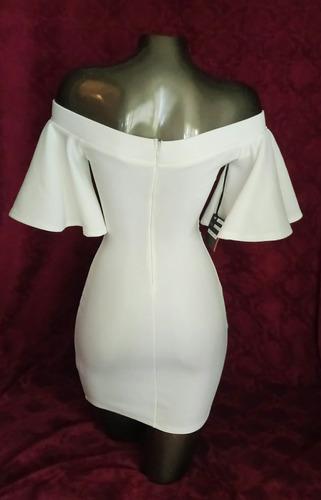 vestido blanco aplicación en cristales