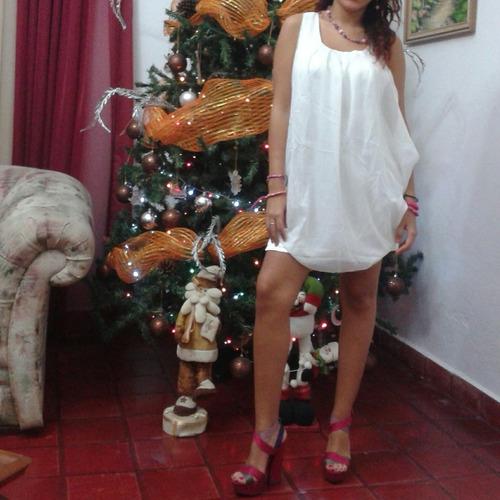 vestido blanco casual chifon moda asiática