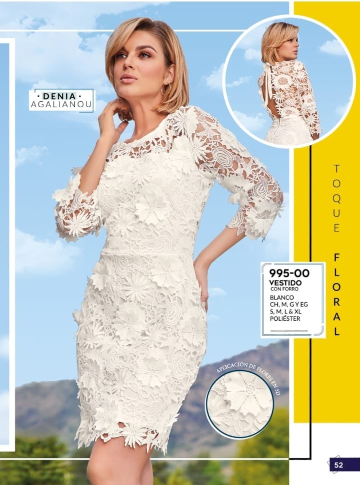 Vestido blanco de cklass