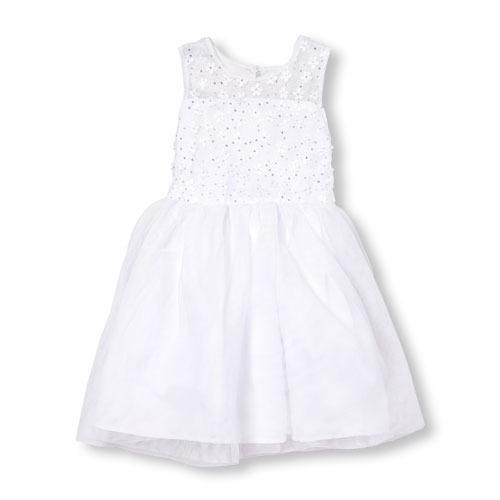vestido blanco childrens place para comunión talla 6