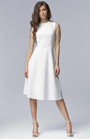 Vestido Blanco Con Transparencia Bautizo Boda Civil