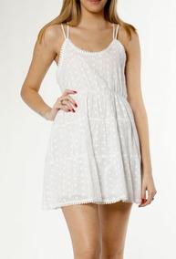 8e0ccd710e Vestido Blanco Encaje Broderie - Vestidos de Mujer XXL en Mercado ...