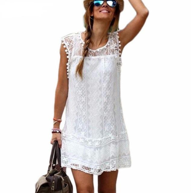 Soрів±ar con vestido blanco largo