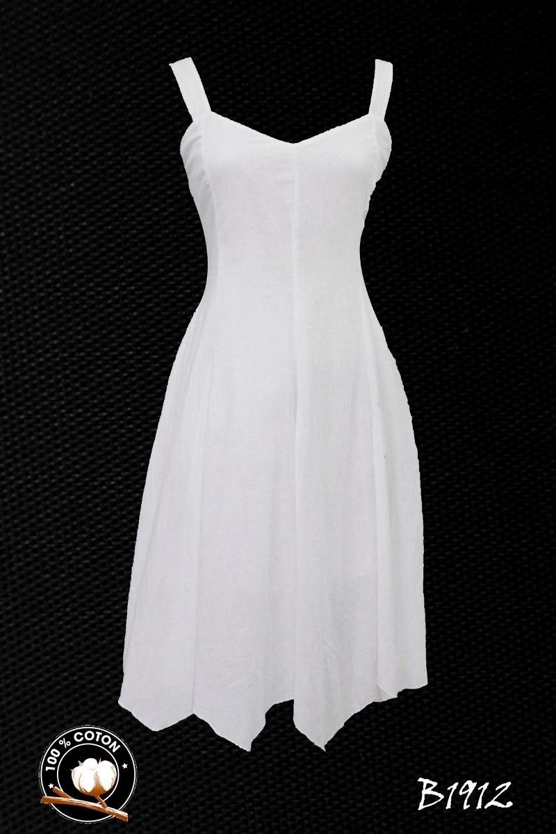 Vestido blanco dama casual