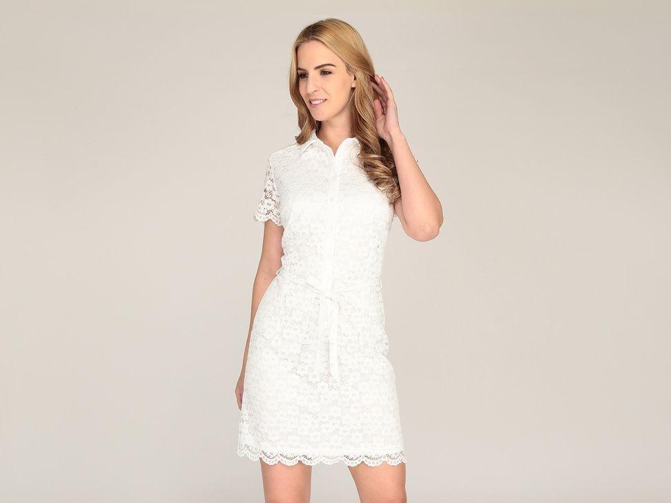 fd5cd919bbc vestido blanco de encaje coctel primavera verano 2019. Cargando zoom.