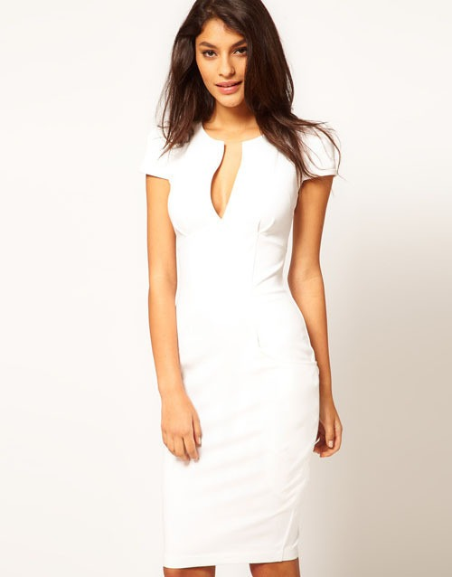 Comprar vestido blanco manga corta