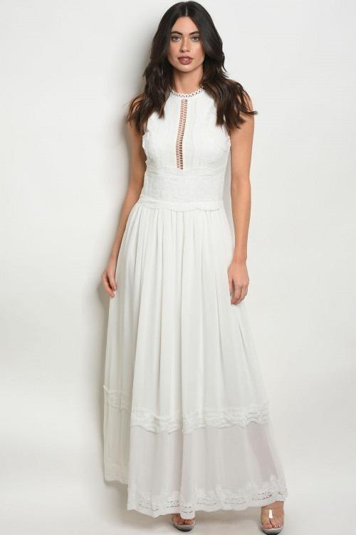 d98bb77c9 Vestido Blanco Elegante Fiesta Para Mujer -   159.900 en Mercado Libre