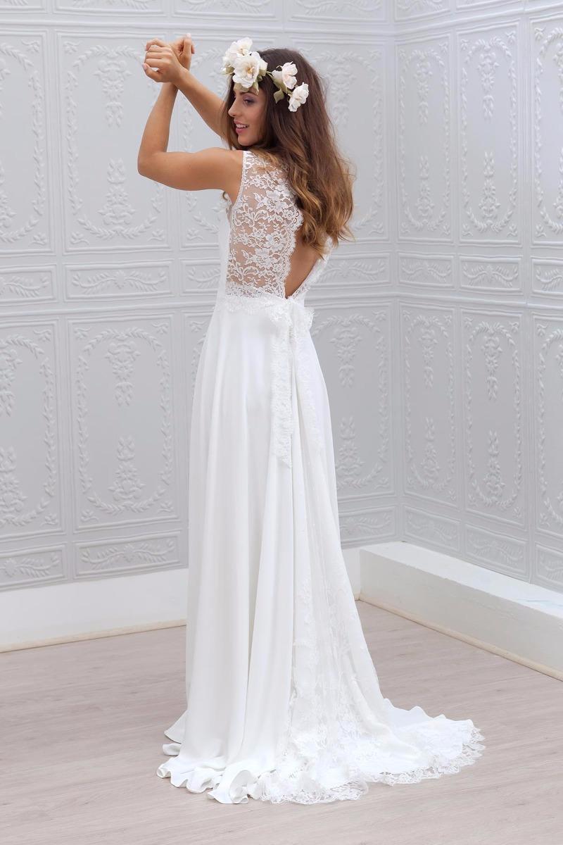 Vestidos de novia sencillo blanco